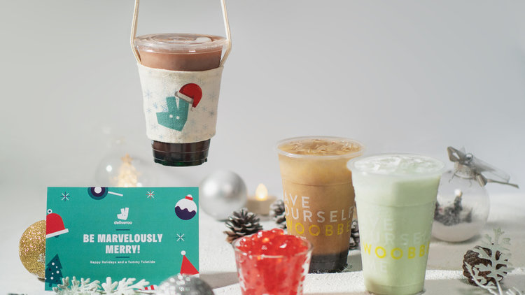 Deliveroo and Woobbee Team Up To Celebrate Christmas with Limited-Edition Bubble Teas and Gifts