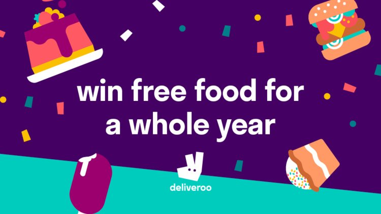 Deliveroo Celebrates 4th Birthday with Free-Food-For-A-Year Giveaway