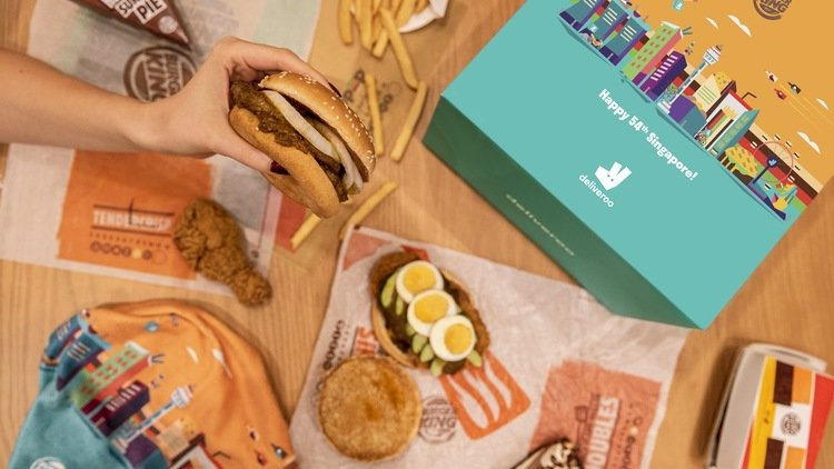 Deliveroo Exclusive: Burger King Says Happy Birthday Singapore with Super Shiok Set