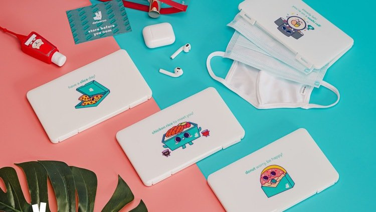 Dining Out Keep Your Face Mask Clean and Safe with Deliveroo's Limited Edition Mask Cases