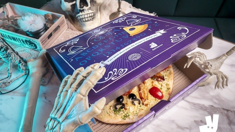 Summon Some Hungry Ghouls This Halloween With A Limited-Edition Ouija-Inspired Pizza Box From Deliveroo and PizzaExpress
